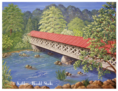 Ashuelot Covered Bridge | Acrylic Painting