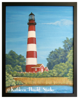 Assateague Lighthouse | Acrylic Painting